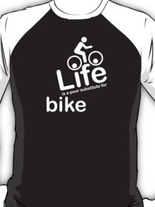 Bike v Life - Carbon Fibre Finish T-Shirt