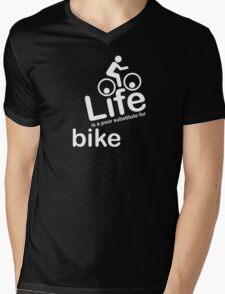 Bike v Life - Carbon Fibre Finish Mens V-Neck T-Shirt
