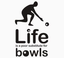 Bowls v Life - White Kids Tee