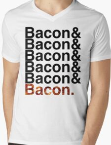 Bacon& Mens V-Neck T-Shirt