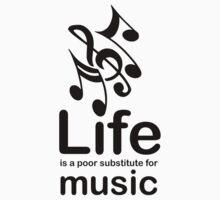 Music v Life - White One Piece - Long Sleeve
