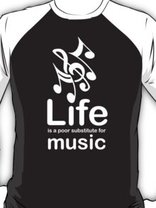 Music v Life - Carbon Fibre Finish T-Shirt