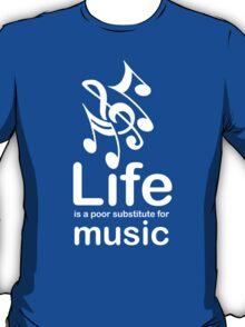 Music v Life - Carbon Fibre Finish T-Shirt