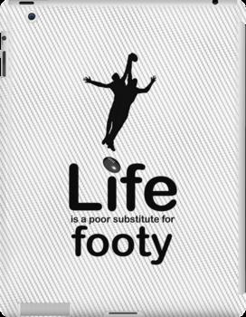 AFL v Life - Black Graphic by Ron Marton