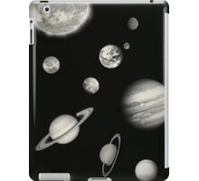 Black and White Solar System iPad Case/Skin