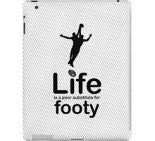 AFL v Life - White iPad Case/Skin