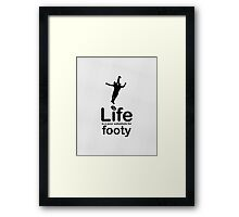 AFL v Life - Marble Framed Print