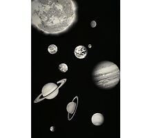 Black and White Solar System Photographic Print