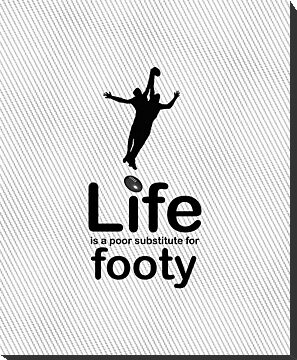 AFL v Life - Black by Ron Marton