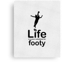 AFL v Life - Carbon Fibre Finish Canvas Print