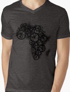 Africa T (Green) Mens V-Neck T-Shirt