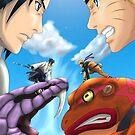 Versus- Naruto and Sasuke iPhone Case by squidkid