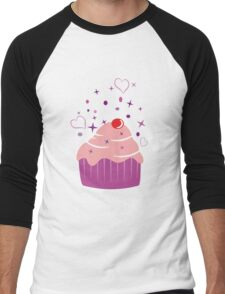 Sweet Cupcake Men's Baseball ¾ T-Shirt