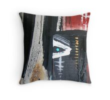 detail from tribe ceremont Throw Pillow