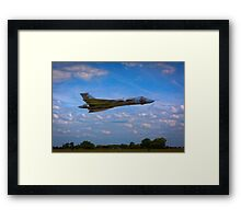 Avro Vulcan flying low Framed Print