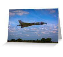 Avro Vulcan flying low Greeting Card