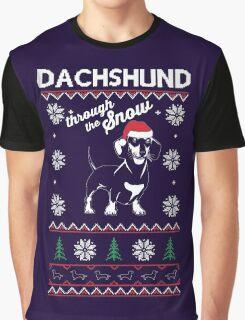 DACHSHUND THROUGH THE SNOW Graphic T-Shirt