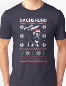 DACHSHUND THROUGH THE SNOW Unisex T-Shirt