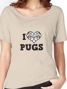 I love Pugs Women's Relaxed Fit T-Shirt