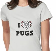 I love Pugs Womens Fitted T-Shirt