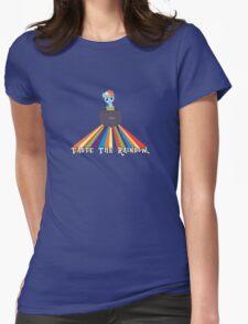 Taste the Rainbow Dash! Womens Fitted T-Shirt