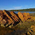 Rocks at Mallacoota Beach, Mallacoota, Victoria by PC1134