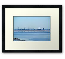 Calm waters at Rock Savage  Framed Print