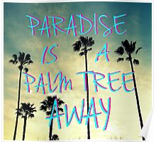 Palm Trees and Paradise Poster