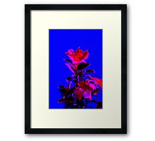Neon Flowers Framed Print