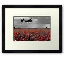 Lancaster Flyover with Red Poppies Framed Print