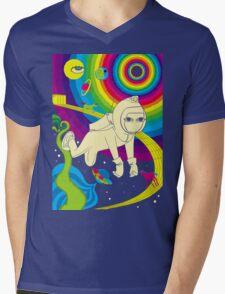 Floating In Space Mens V-Neck T-Shirt