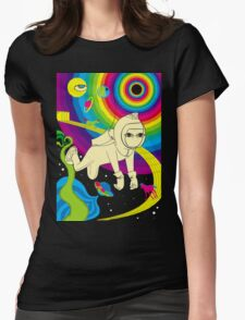 Floating In Space Womens Fitted T-Shirt