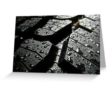 Wet Tyre Greeting Card