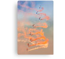 RAF Falcons parachute display team Canvas Print