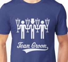 Team Groom (Bachelor Party / Stag Night) White Unisex T-Shirt