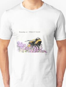 Bumble Bee browsing on astrantia flower Unisex T-Shirt