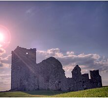 Knowlton Church, Sunset. by Alexis Pond