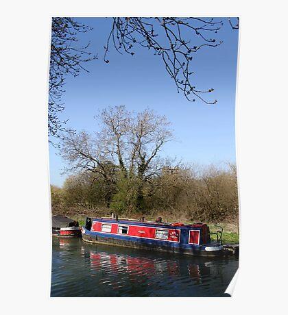 Narrow Boat In Spring Poster