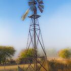 Backyard Windmill by Elaine Teague