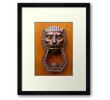 TUSCAN DOOR DECOR - EGYPT Framed Print