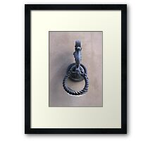 TUSCAN DOOR DECOR  - THE HAND Framed Print