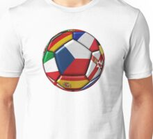 Ball with flag of Czech republic in the center Unisex T-Shirt