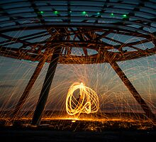 Halo on Fire - Haslingden Halo by Simon Osbaldeston