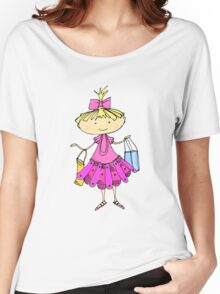 Pink girl Women's Relaxed Fit T-Shirt