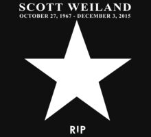 Scott Weiland - Rest In Peace - Stone Temple Pilots Four Logo by iloveshirts13