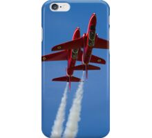 Red Arrows Synchro pair iPhone Case/Skin
