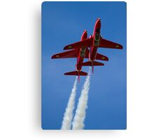 Red Arrows Synchro pair Canvas Print