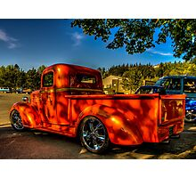 Orange Hauler Photographic Print