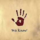 Elder Scrolls Dark Brotherhood - WE KNOW greetings card by Matthew Ellerington