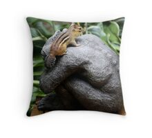 Chipmunk on Gargoyle Throw Pillow